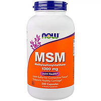 МСМ (Метилсульфонинметан), Now Foods, MSM, 1000 mg, 240 Capsules