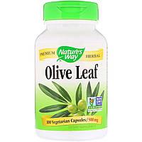 Экстракт Оливковых Листьев, Olive Leaves, Nature's Way, 500 мг, 100 Капсул