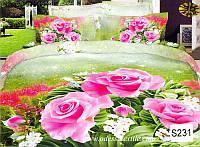 Комплект постельного белья  ELWAY сатин 3D 231