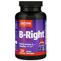 Витамины В-комплекс, B-Right, Jarrow Formulas, 100 гелевых капсул