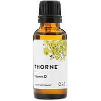 Витамин D, 1 жидкая унция (30 мл), Thorne Research