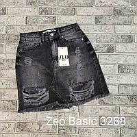"""Женская джинсовая юбка (34-40)  """"Rozeta"""" LB-1047"""
