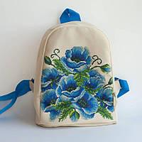 Рюкзак пошитый под вышивку Маки 1