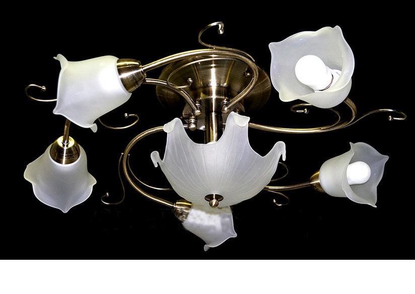Потолочный светильник TINKO 310BR/5+1CWT античная бронза