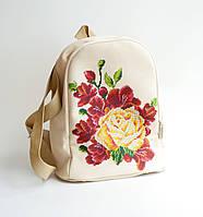 Рюкзак пошитый под вышивку Медовая роза