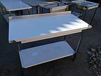 Стол производственный 1300х600х850 с бортом, из нержавеющей стали