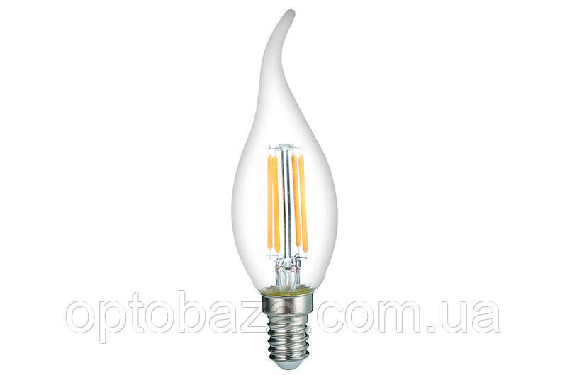 LED Лампа Vestum филамент C35T 4W 3000K 220V E14