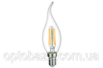 LED Лампа Vestum филамент C35T 4W 3000K 220V E14, фото 2