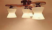 Потолочный светильник TINKO 909CR/4H SPINER хром/дерево, фото 1