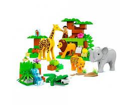 Конструктор дитячий пластиковий великі деталі зоопарк JDLT 5286