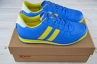 Кроссовки подростковые унисекс X-TEP 320076 сине-жёлтые ПВХ, фото 1