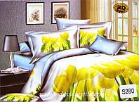 Комплект постельного белья  ELWAY сатин 3D 280