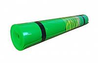 Йогамат, коврик для фитнеса и фоги  (Зелёный)