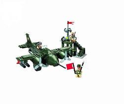 Конструктор детский военный самолет BRICK 810