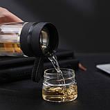 ✅ Заварник для чая  Термокружка с двойным стеклом Колба из боросиликатного стекла Инфузер для Чая 400 мл., фото 6