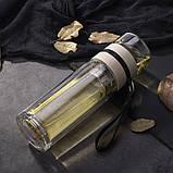 ✅ Заварник для чая  Термокружка с двойным стеклом Колба из боросиликатного стекла Инфузер для Чая 400 мл., фото 8