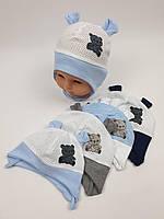 Летние детские шапочки в сеточку с ушками для мальчиков, р. 38-40 42-44, Польша (Ala Baby), фото 1