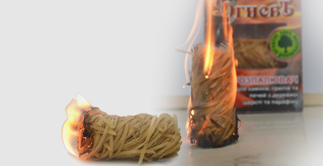 Разжигатели огня из древесной шерсти