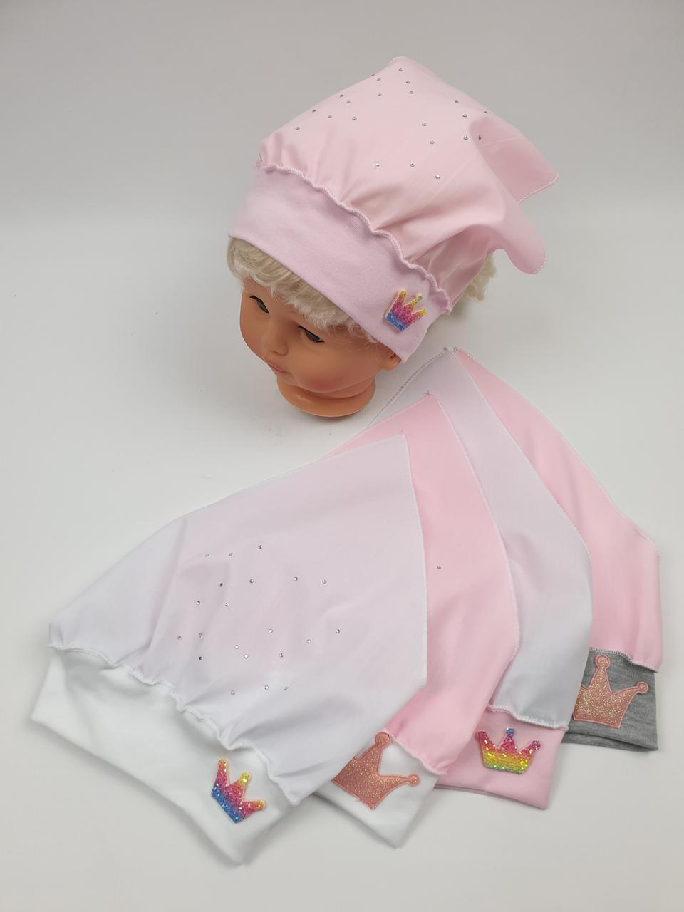 Детские банданы косынки для девочек, р.46-48, Польша (Ala Baby)