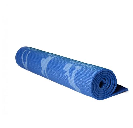Йогамат, коврик для фитнеса и йоги (Синий)
