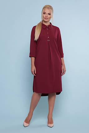 Трендові літнє плаття-сорочка вільного крою Великий розмір XL, XXL, XXXL, 4XL, фото 2