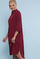 Трендові літнє плаття-сорочка вільного крою Великий розмір XL, XXL, XXXL, 4XL, фото 3