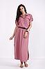Сукня льняна з регульованим поясом на резинці, з 42 до 74 розміру