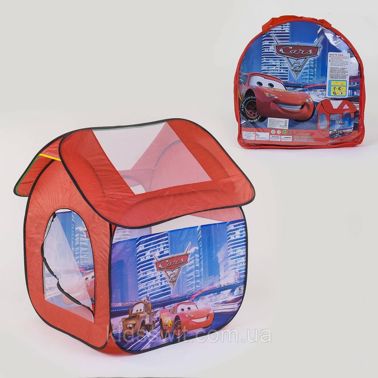 Палатка детская Машинки 112 х102 х114 см, в сумке 8009 C