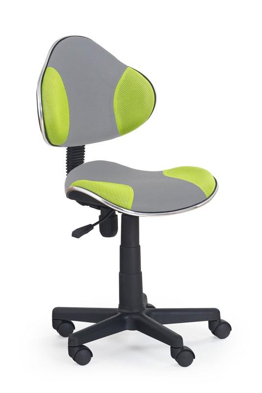 Кресло компьютерное  FLASH-2 серый / салатовый