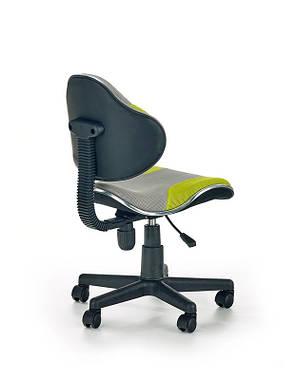 Кресло компьютерное  FLASH-2 серый / салатовый, фото 2