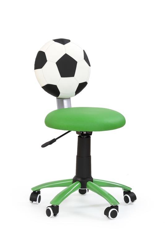 Кресло компьютерное  GOL зеленый, экокожа