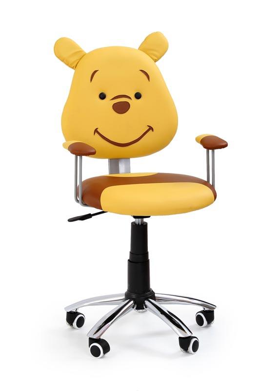 Стильне м'яке комп'ютерне крісло для дитини на коліщатках (мультяшні герої)