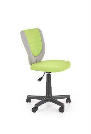 М'яке комп'ютерне крісло дитяче/ підліткове на коліщатках салатова, тканина, фото 2