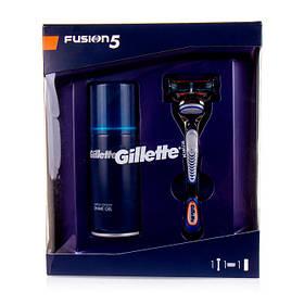Подарунковий набір Gillette Fusion5 (Гель для чутливої шкіри 75мл + верстат з 1 касетою) 8247