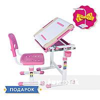 Детская парта растишка и стульчик FunDesk Bambino Pink