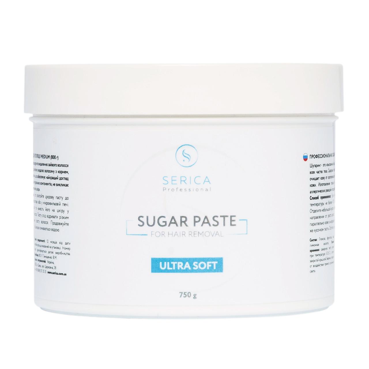 Ультра мягкая сахарная паста для эпиляции ТМ Serica 750г