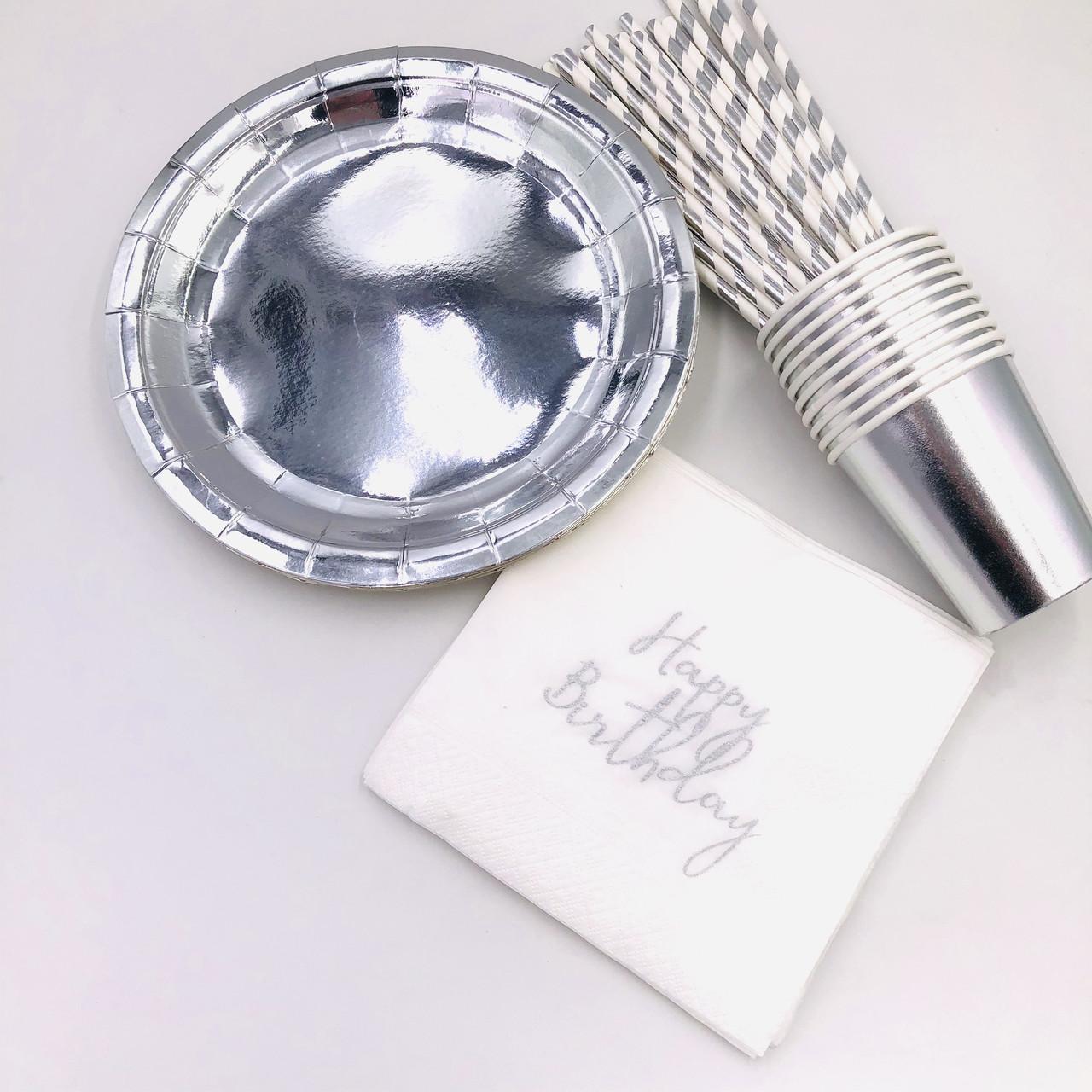Набор посуды для праздника Тренд  Серебро