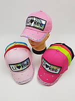 Детские кепки Likee для девочек оптом, р.55, фото 1