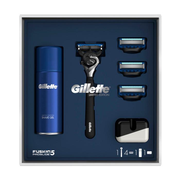 Подарочный набор Gillette Fusion5 ProGlide Flexball (бритва + 4 кассеты + гель + подставка) 6962