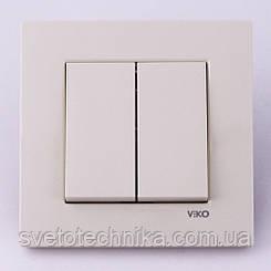 Выключатель двухклавишный VI-KO Karre скрытой установки (белый)