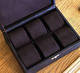 Шкатулка для хранения  часов 22*17,5*7,5 Гранд Презент 603410 коричневая, фото 4