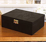Шкатулка для хранения  часов 22*17,5*7,5 Гранд Презент 603410 коричневая, фото 5