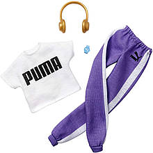 Одежда для кукол Барби Barbie Clothes: Puma Outfit Doll with 2 Accessories, Sweat Pants Set