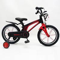 Детский легкий магниевый Велосипед Hammer Brilliant 16 дюймов от 5 лет легкий Черно-Красный