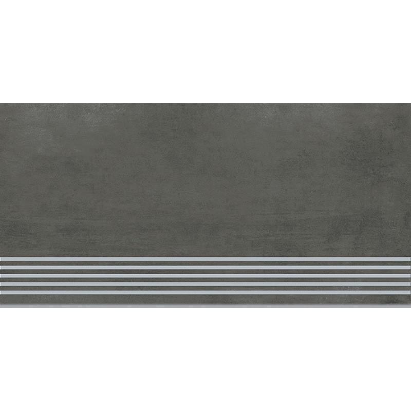 Грес ГРАВА  Графіт  Стрептід (сходинки) 29,8х59,8