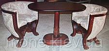 "Кресло классическое с резьбой ""Тет-а-тет"" в ткани, фото 2"
