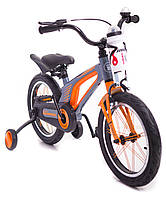 Детский легкий магниевый Велосипед Hammer Brilliant 16 дюймов от 5 лет легкий Серебро