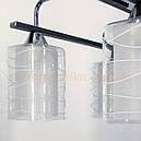 Люстра лофт 4 плафона  Е27 черно-белая 126/4, фото 2