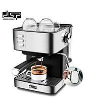 Кофемашина полуавтоматическая рожковая DSP KA3028 Кофеварка Espresso Coffee Maker с капучинатором