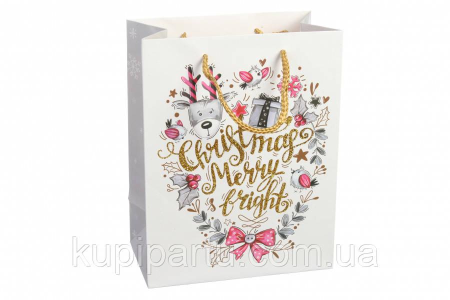Новогодний подарочный пакет 31*12*42 см 3-19081066